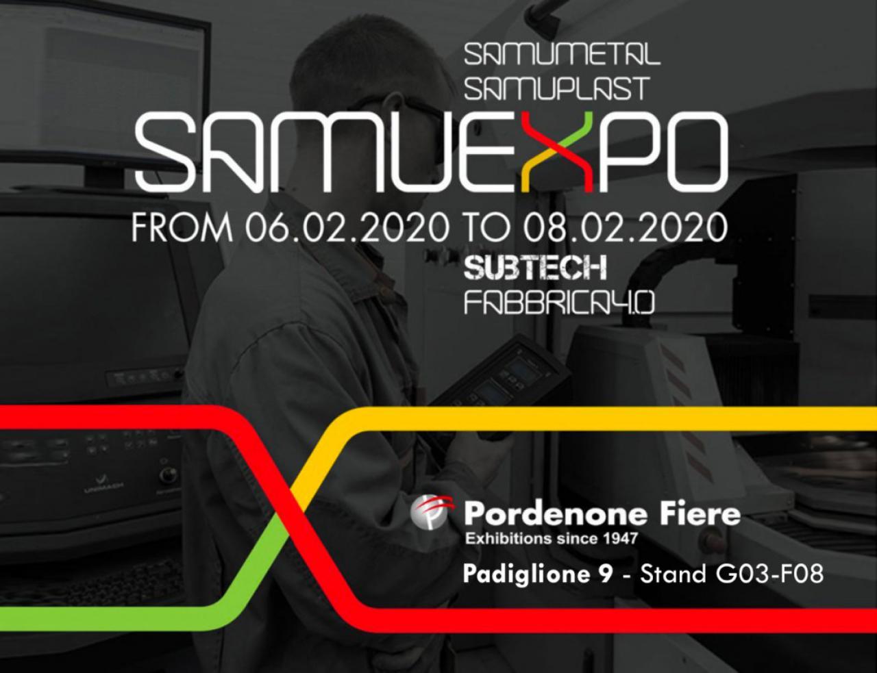 """Next Pordenone Fair """"SAMUEXPO"""" from 06 to 08 February 2020"""